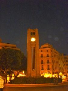 Beirut's Place de l'Etoile - Quiet, for now.
