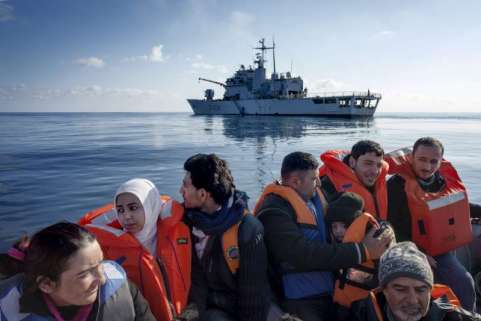 (Syrian migrants rescued - Image from UNHCR)